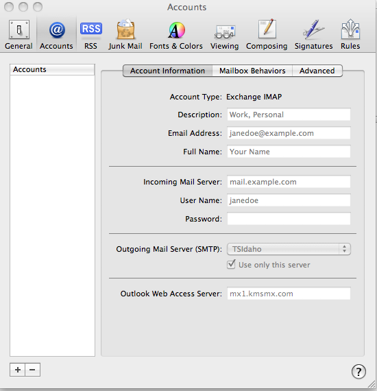 Apple Mail Setup for Kerio Connect - Tech Strategies, Inc
